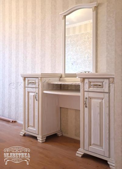 Будуарный стол Магия 2 двери 2 ящика Будуарные столы из дерева Одесса, туалетные столики