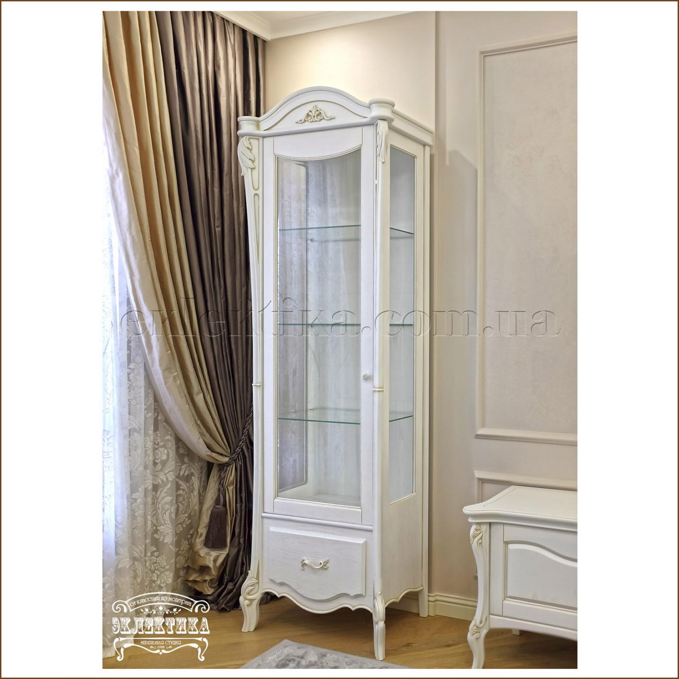 Витрина Валенсия 1 дверь 1 ящик