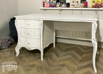 Стол письменный Валенсия 4 ящика Письменные столы из дерева Одесса, деревянные письменные столы под заказ