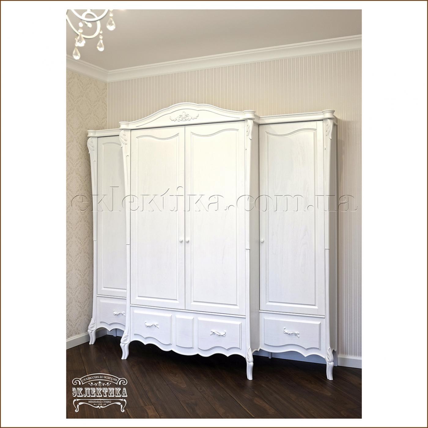 Шкаф Валенсия 4 двери 4 ящика