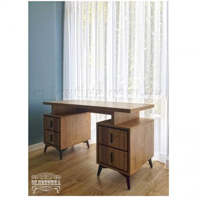 Письменный стол Геометрия 4 ящика Письменные столы из дерева Одесса, деревянные письменные столы под заказ