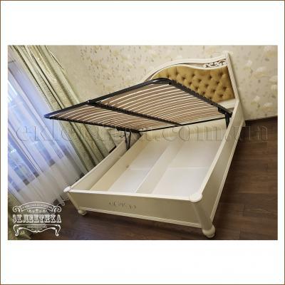 Кровать Сиена (подъёмный механизм) Кровати из дерева Одесса, деревянные кровати под заказ