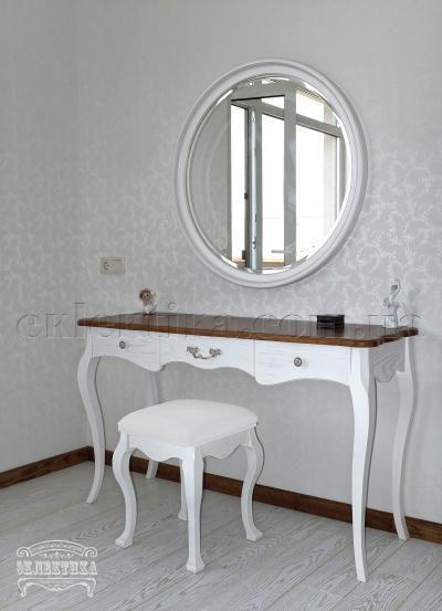 Рама с зеркалом Корсика круглая Будуарные столы из дерева Одесса, туалетные столики