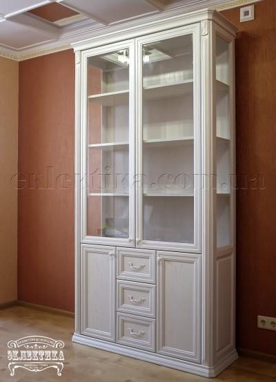Витрина Сиена 4 двери 3 ящика Серия