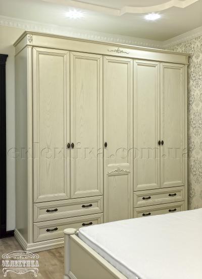 Шкаф Тоскана 5 дверей 4 ящика Шкафы из дерева Одесса, шкафы под заказ