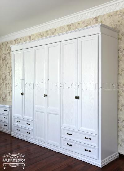 Шкаф Тоскана 6 дверей 4 ящика Шкафы из дерева Одесса, шкафы под заказ