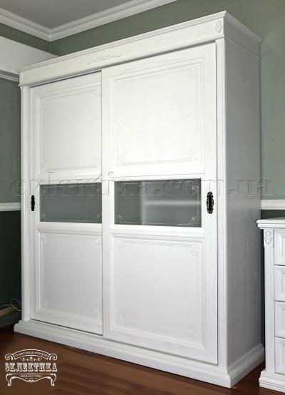 Шкаф-купе Тоскана 2 двери (стекло) Шкафы-купе из дерева Одесса, деревянные шкафы-купе под заказ