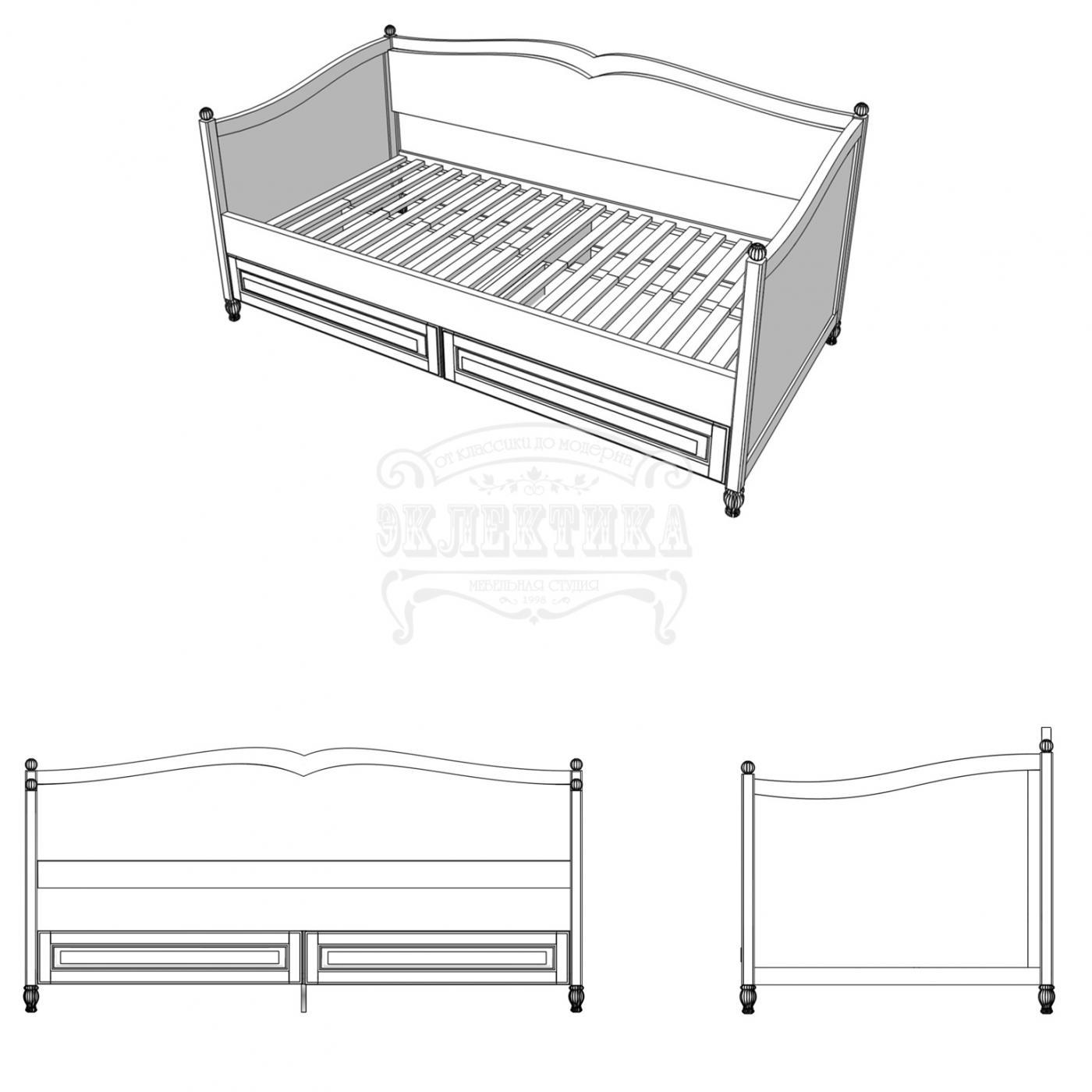 Кровать-диван Прованс2