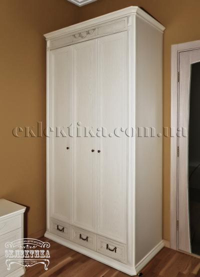 Шкаф Сиена 3 двери 3 ящика Шкафы из дерева Одесса, шкафы под заказ