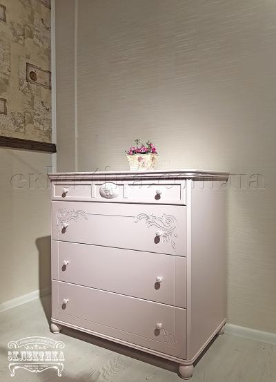 Комод Сиена-Конфети 4 ящика Детская мебель