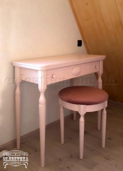 Будуарный стол Сиена-Конфети 1 ящик Детская мебель