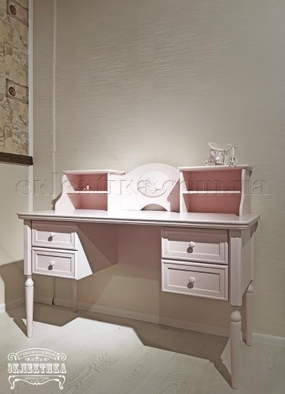 Стол письменный Сиена-Конфети 4 ящика с надстройкой Детская мебель