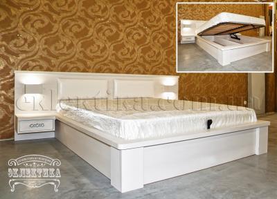 Кровать Толедо  (подъёмный механизм) Кровати из дерева Одесса, деревянные кровати под заказ