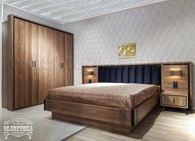 Кровать Геометрия (подъёмный механизм) Кровати из дерева Одесса, деревянные кровати под заказ