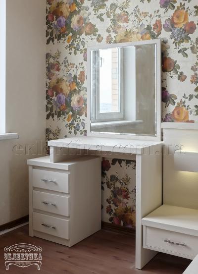 Будуарный стол Толедо с зеркалом 3 ящика Будуарные столы из дерева Одесса, туалетные столики