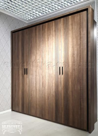 Шкаф Геометрия 4 двери Шкафы из дерева Одесса, шкафы под заказ